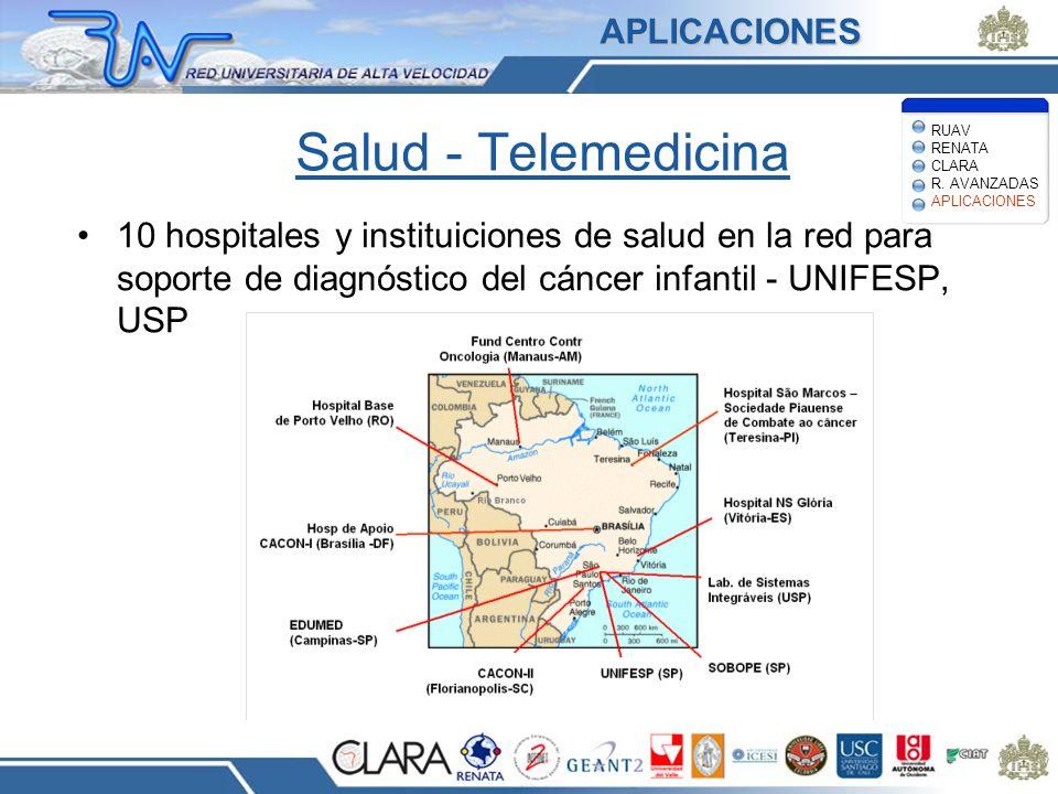 Salud - Telemedicina 10 hospitales y instituiciones de salud en la red para soporte de diagnóstico del cáncer infantil - UNIFESP, USP RUAV RENATA CLAR