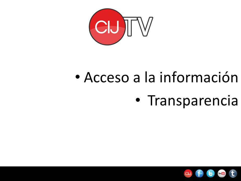 Acceso a la información Transparencia