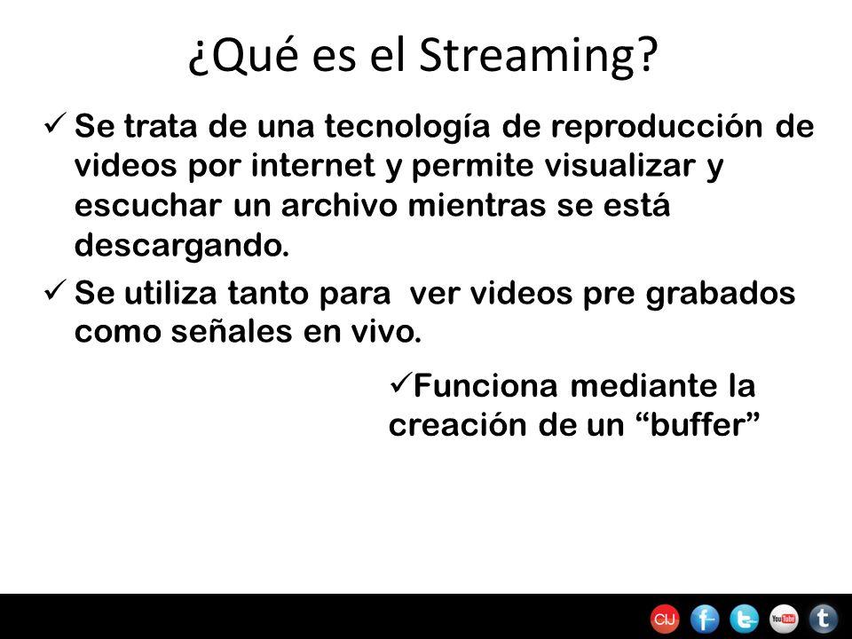 ¿Qué es el Streaming? Se trata de una tecnología de reproducción de videos por internet y permite visualizar y escuchar un archivo mientras se está de