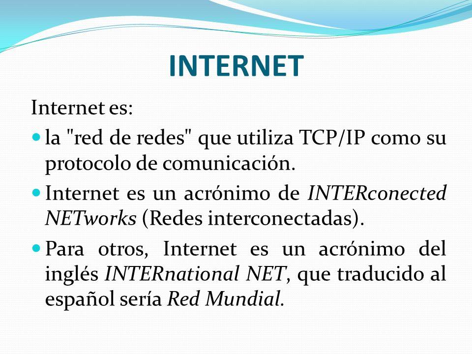 INTERNET Internet es: la