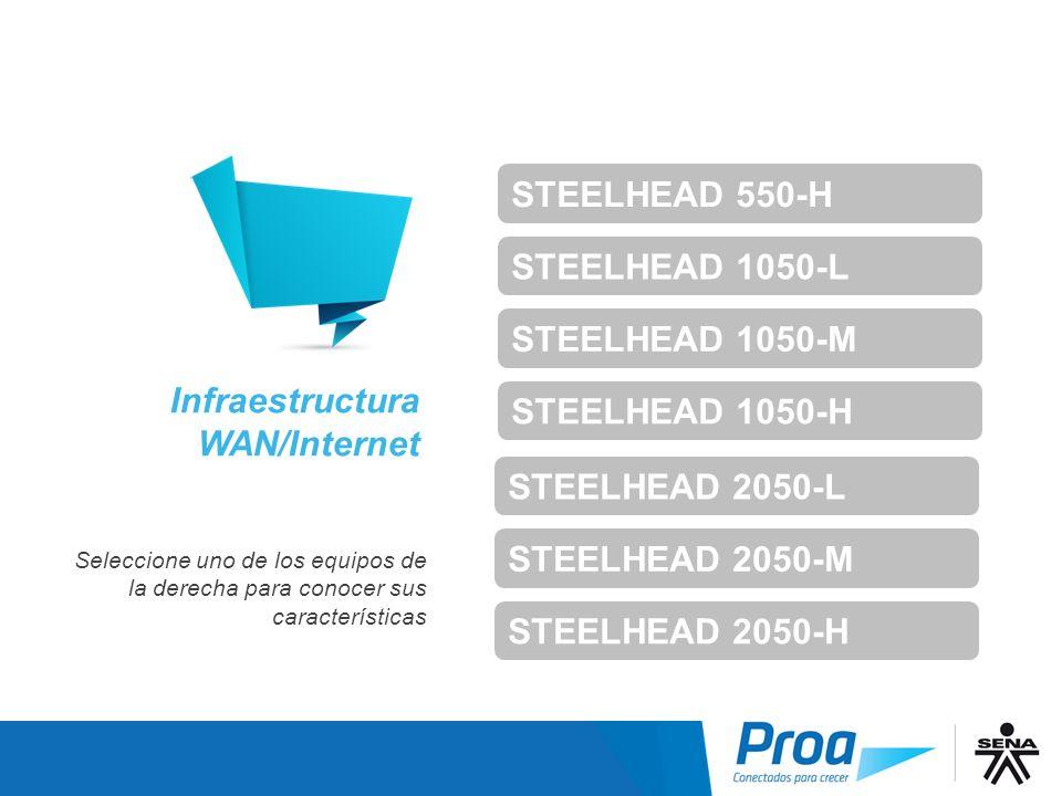 STEELHEAD 550-H STEELHEAD 1050-L STEELHEAD 1050-M STEELHEAD 1050-H Infraestructura WAN – Índice 2 STEELHEAD 2050-L STEELHEAD 2050-M STEELHEAD 2050-H I