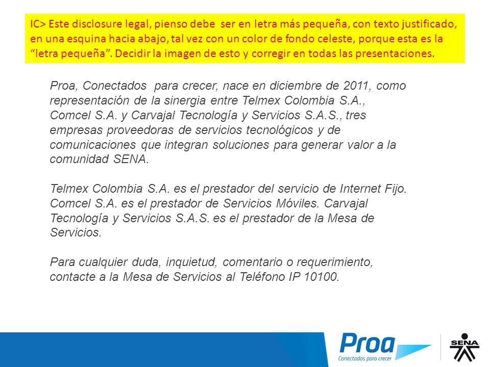 Nota Proa, Conectados para crecer, nace en diciembre de 2011, como representación de la sinergia entre Telmex Colombia S.A., Comcel S.A. y Carvajal Te