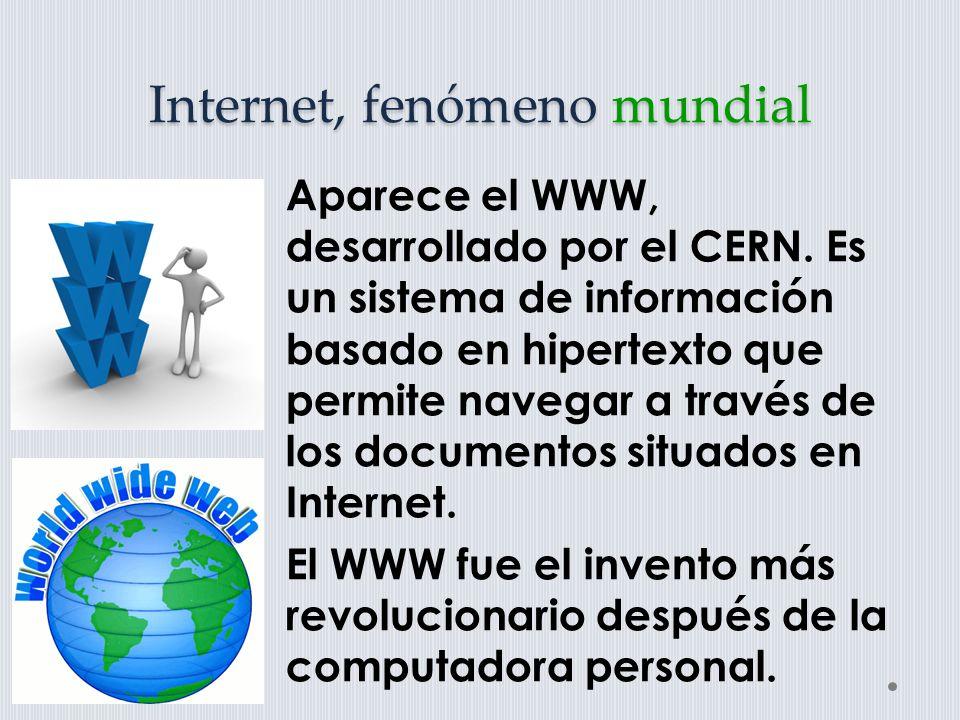El WWW es un sistema hipermedia que integra en una interfase común a todos los recursos existentes en la red para su acceso en forma organizada y normalizada, cubre todos los recursos del mundo en forma hipermedia o hipertexto.