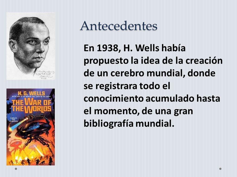 Antecedentes En 1938, H.
