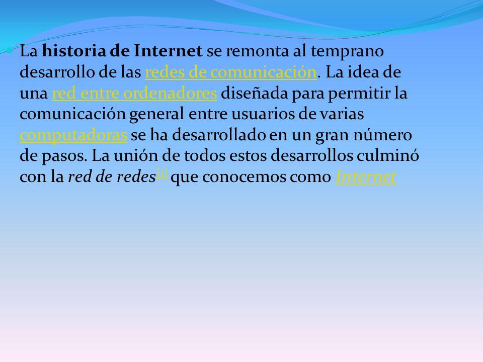 De esta manera, Internet sirve de enlace entre redes más pequeñas y permite ampliar su cobertura al hacerlas parte de una red global .