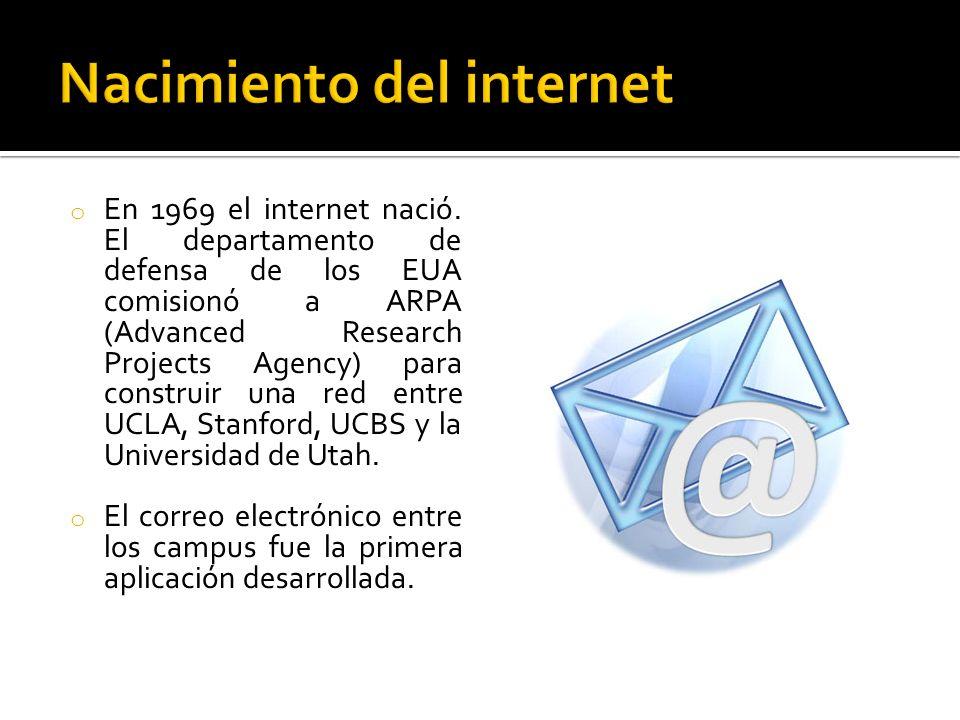 o En 1969 el internet nació.
