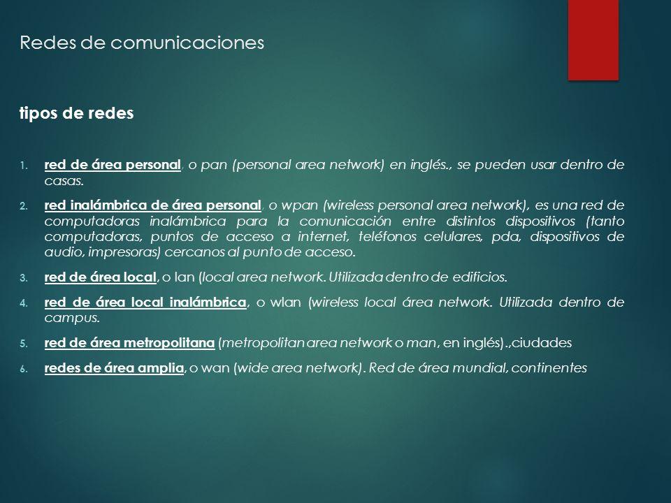 Redes de comunicaciones tipos de redes 1.