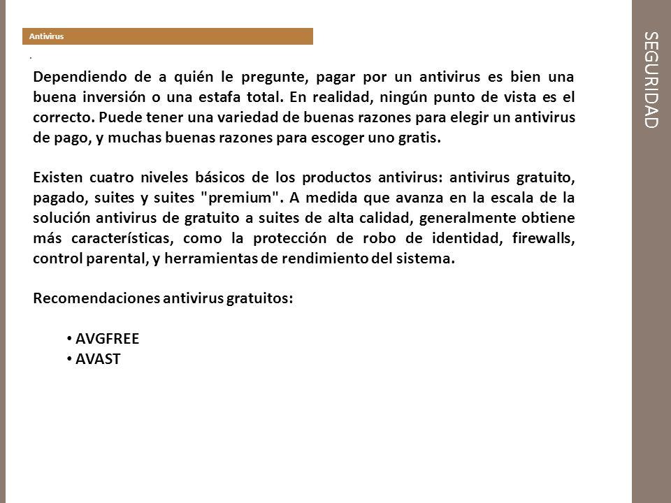 SEGURIDAD Antivirus.