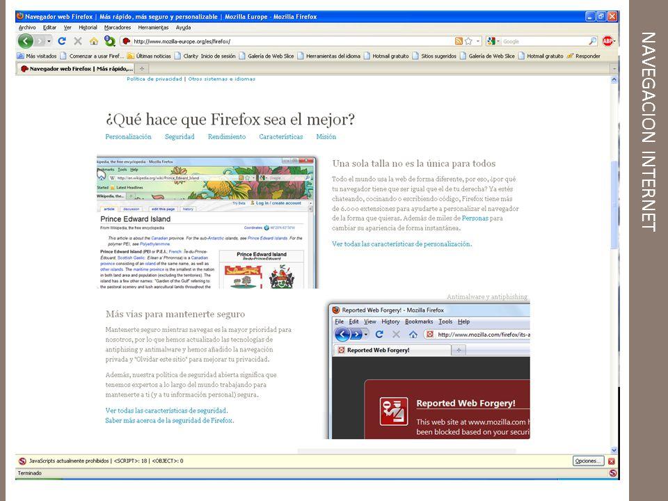 NAVEGACION INTERNET Descarga e Instalación del Navegador Firefox