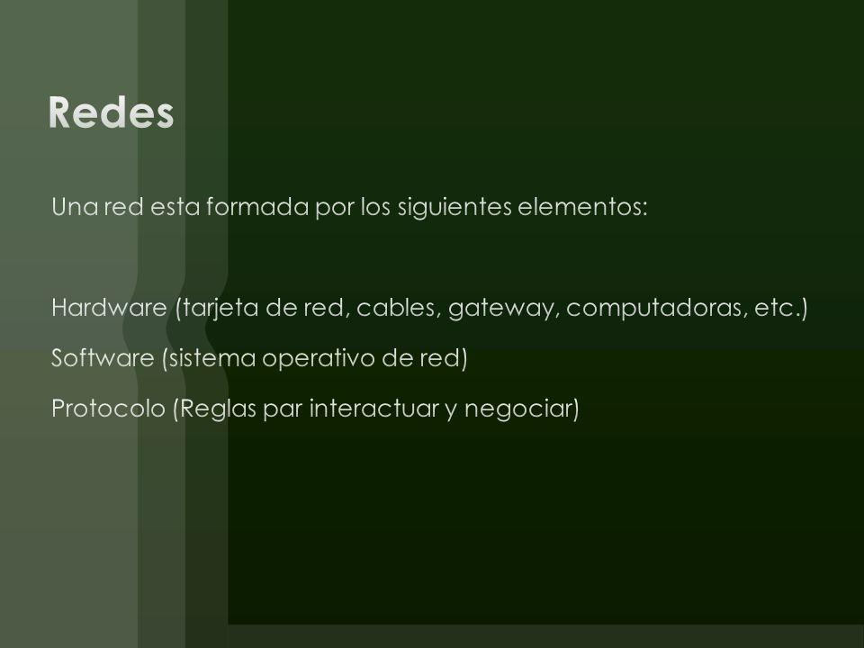 Puerto: En el contexto de redes son a nivel de software, y se encargan de la transmisión de datos entre diferentes computadoras.