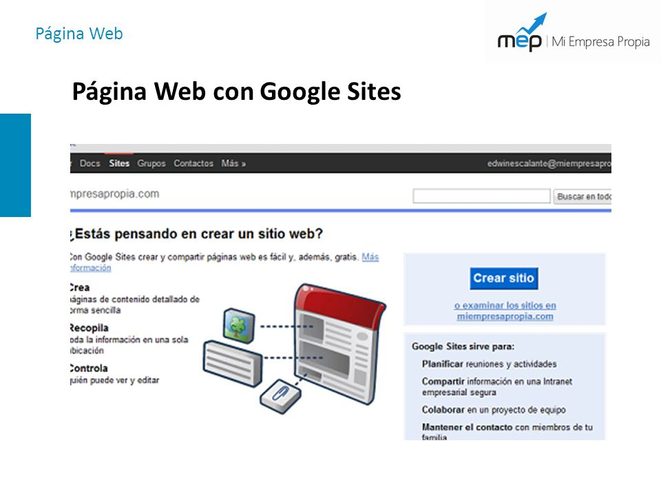 Página Web Página Web con Google Sites