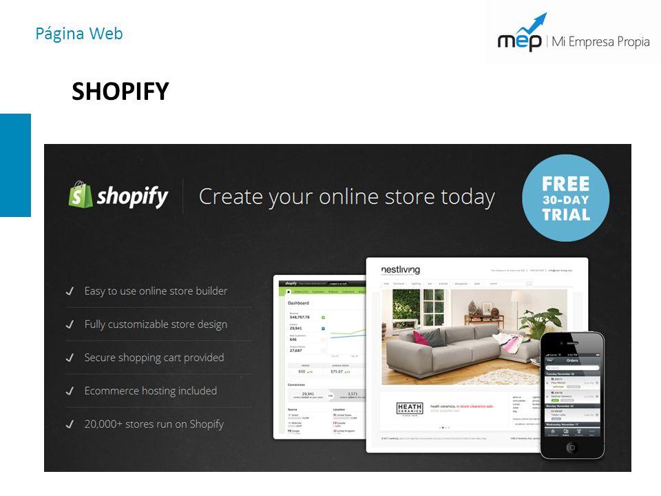 Página Web SHOPIFY