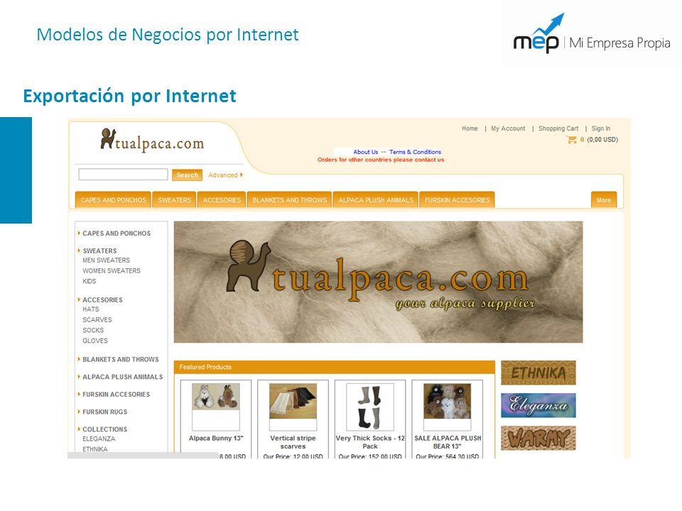 Modelos de Negocios por Internet Exportación por Internet