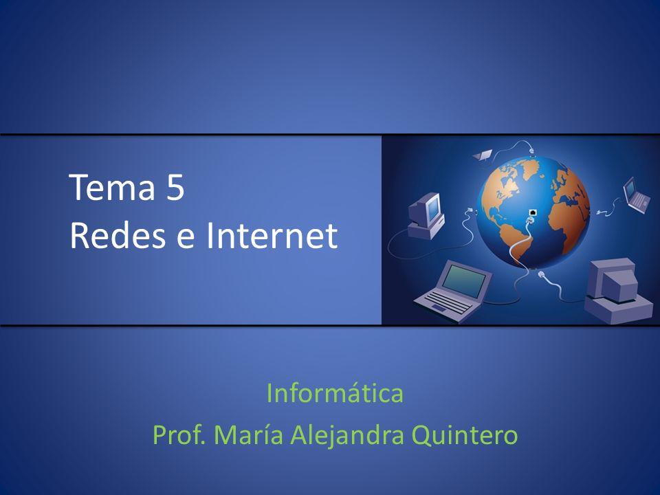 Tema 5 Redes e Internet Informática Prof. María Alejandra Quintero