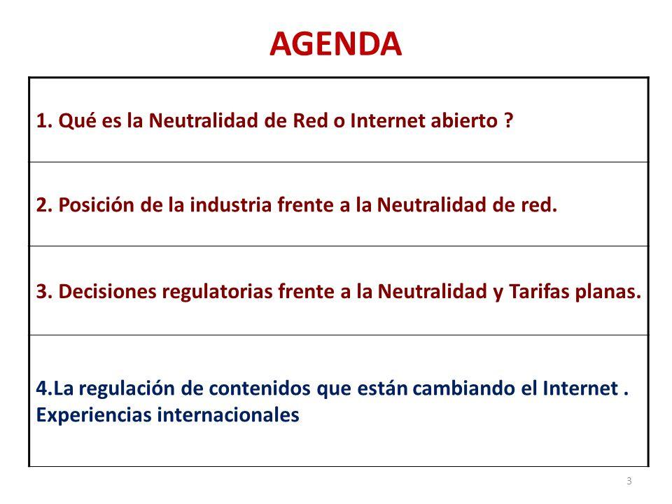 El 21 de diciembre de 2010, la FCC aprobó (3 votos contra 2) la norma para la Neutralidad de Red, bajo los siguientes postulados: La banda ancha es Servicio de Información (no regulado).