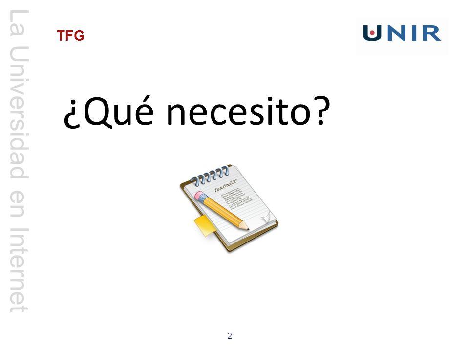 La Universidad en Internet 2 TFG ¿Qué necesito?