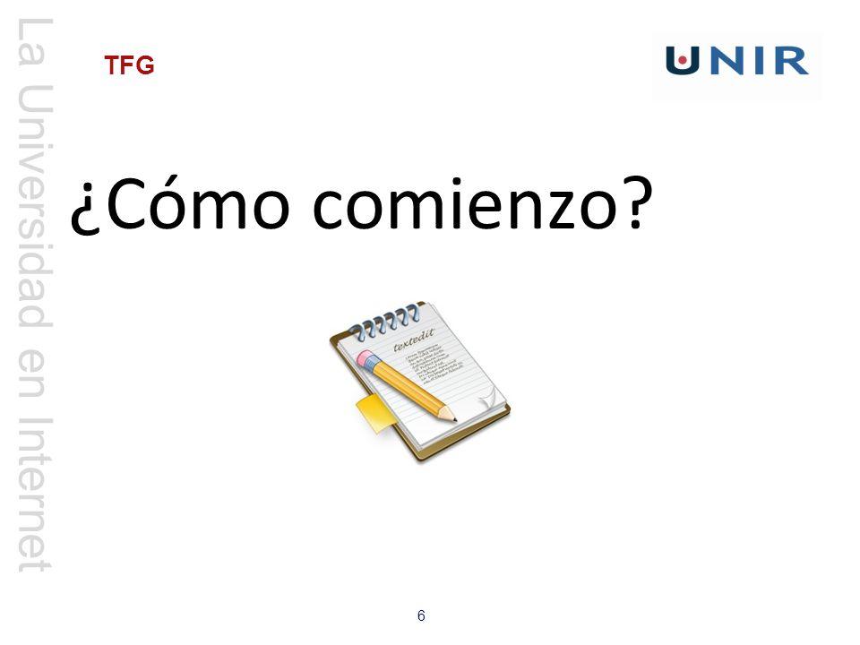 La Universidad en Internet 6 TFG ¿Cómo comienzo?