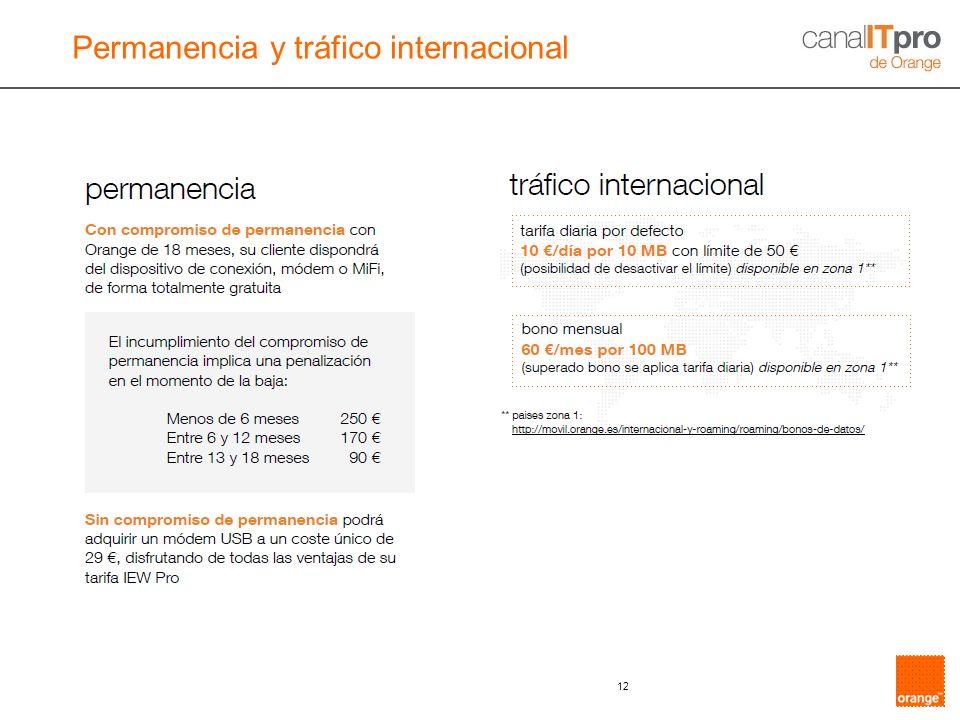 12 Permanencia y tráfico internacional