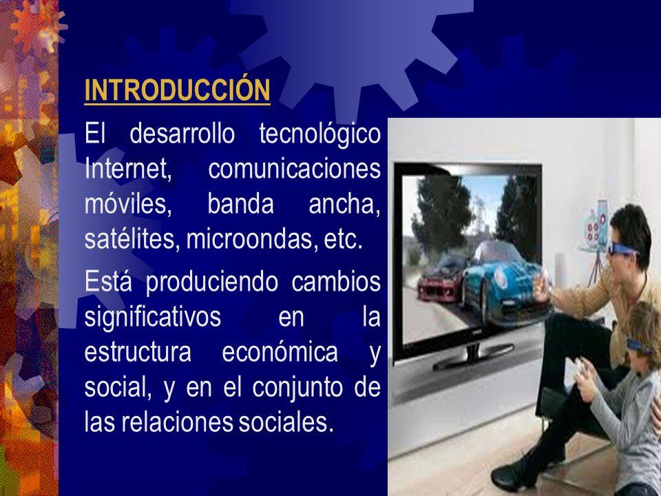 INTRODUCCIÓN El desarrollo tecnológico Internet, comunicaciones móviles, banda ancha, satélites, microondas, etc. Está produciendo cambios significati