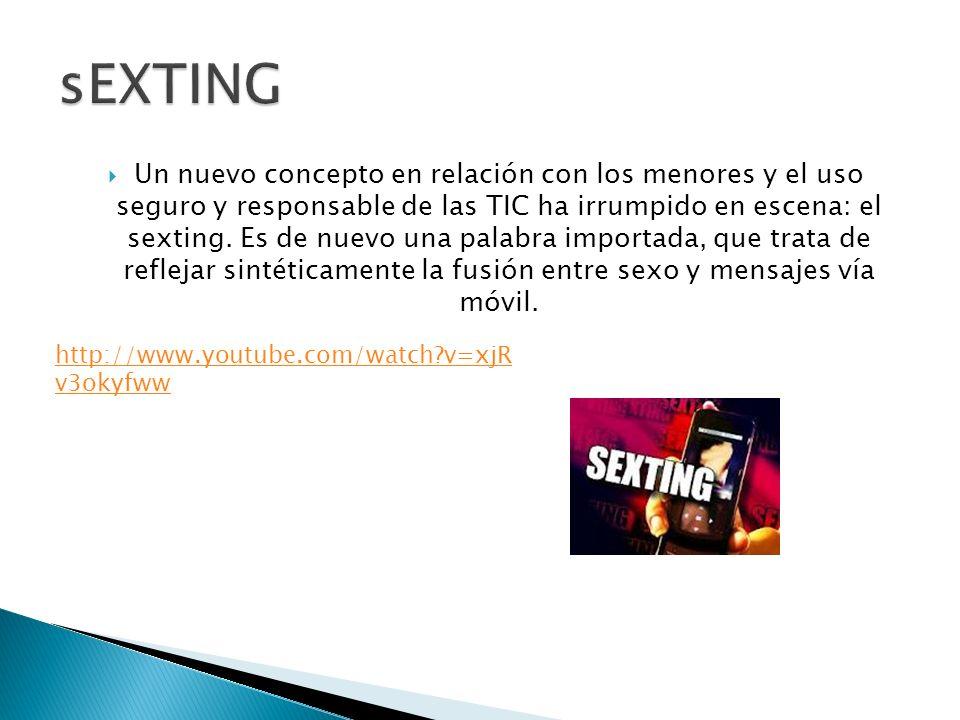Un nuevo concepto en relación con los menores y el uso seguro y responsable de las TIC ha irrumpido en escena: el sexting.