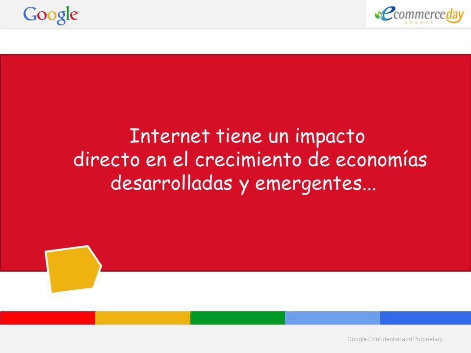 Internet tiene un impacto directo en el crecimiento de economías desarrolladas y emergentes...