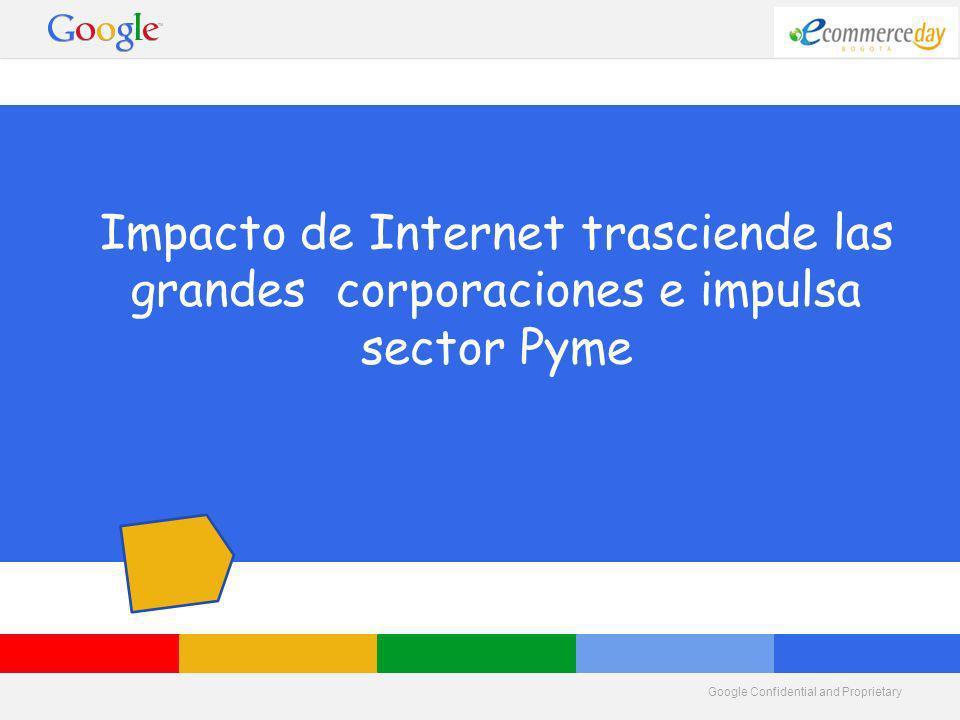 Google Confidential and Proprietary Impacto de Internet trasciende las grandes corporaciones e impulsa sector Pyme