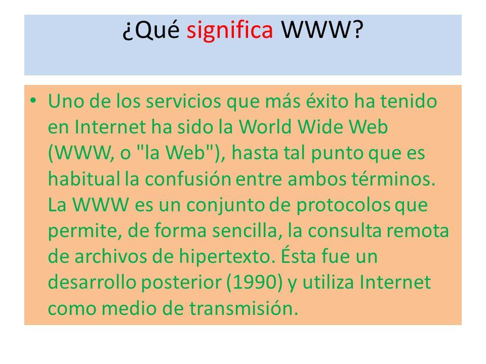 ¿Qué significa WWW.