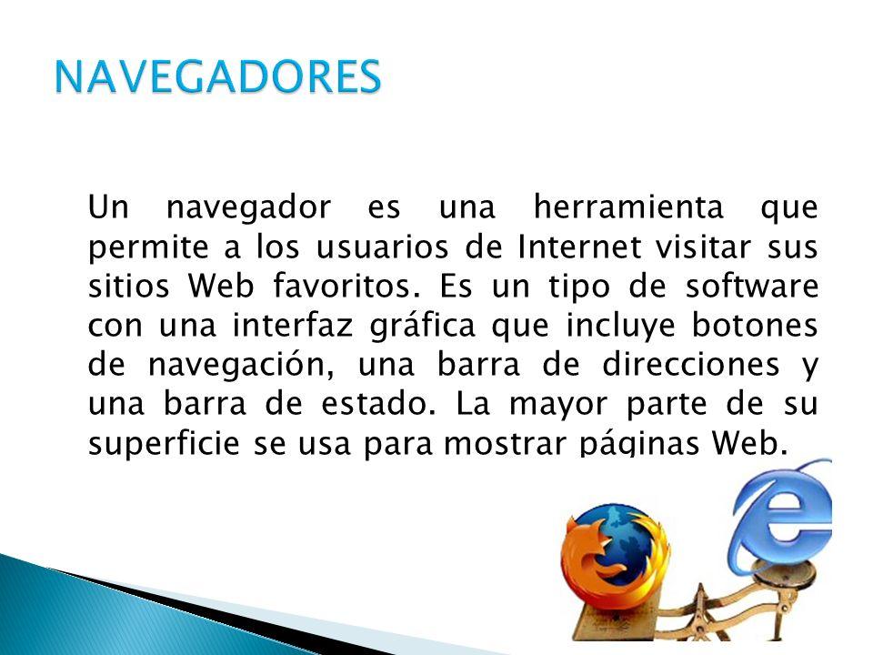 Un navegador es una herramienta que permite a los usuarios de Internet visitar sus sitios Web favoritos. Es un tipo de software con una interfaz gráfi