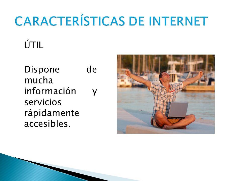 ÚTIL Dispone de mucha información y servicios rápidamente accesibles.