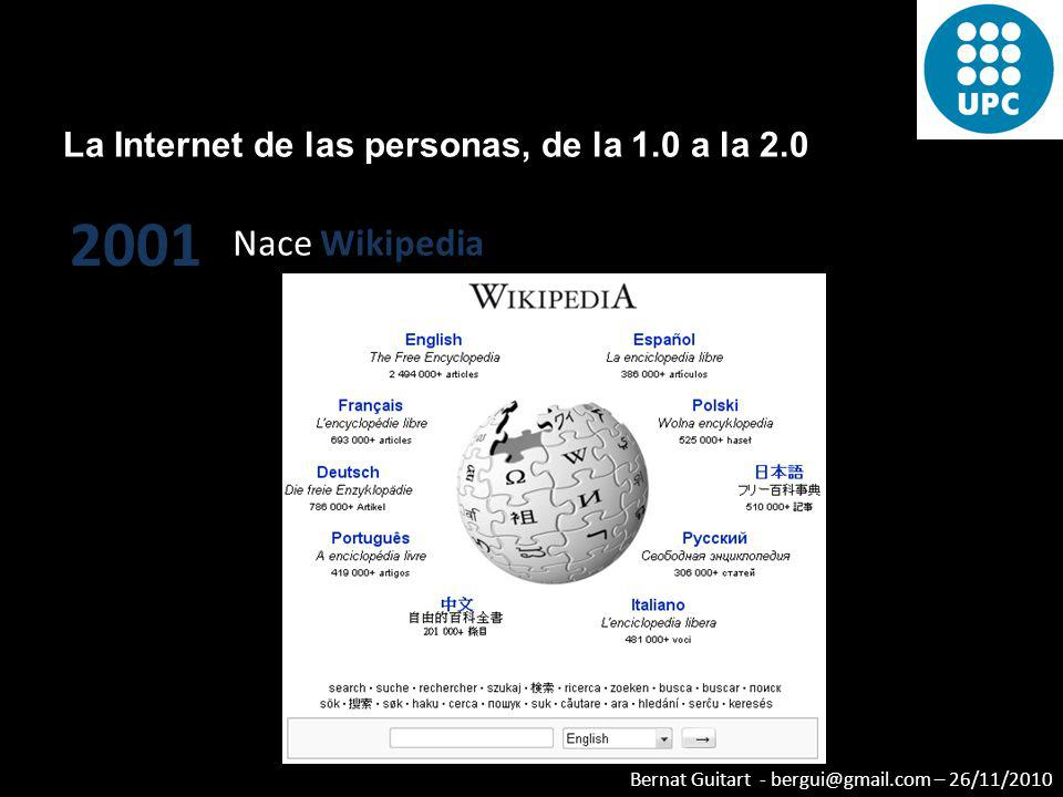 Bernat Guitart - bergui@gmail.com – 26/11/2010 Centralización de Internet – Videos