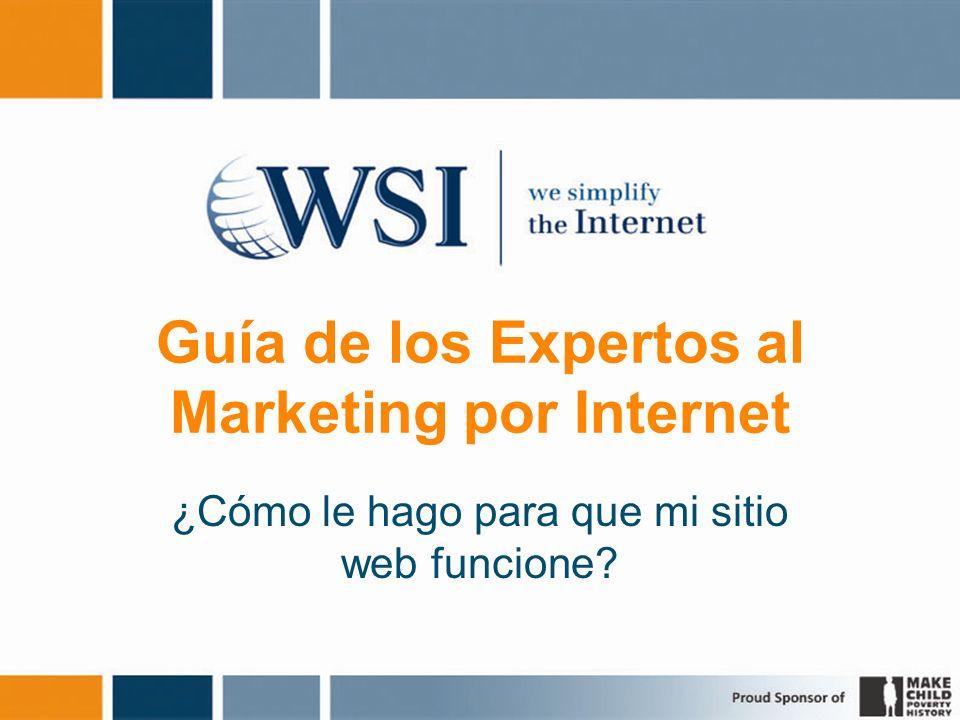 Guía de los Expertos al Marketing por Internet ¿Cómo le hago para que mi sitio web funcione