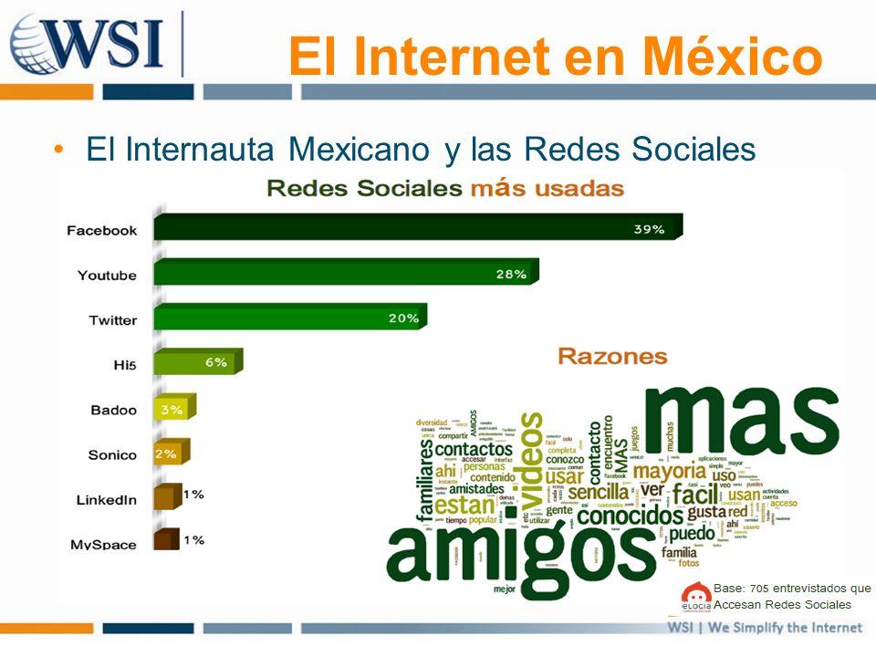 El Internet en México El Internauta Mexicano y las Redes Sociales