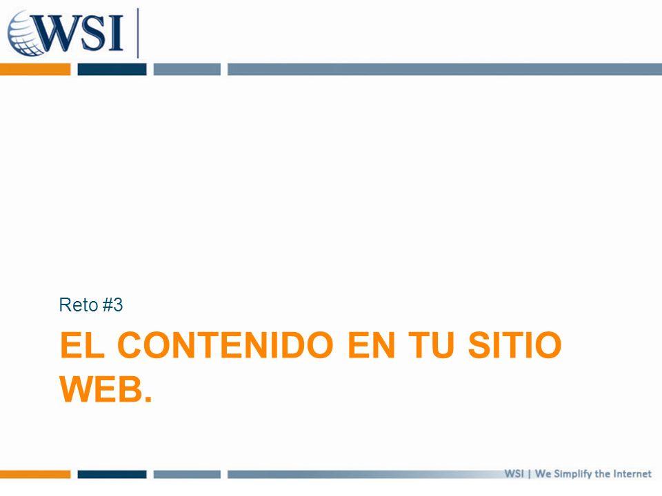 EL CONTENIDO EN TU SITIO WEB. Reto #3