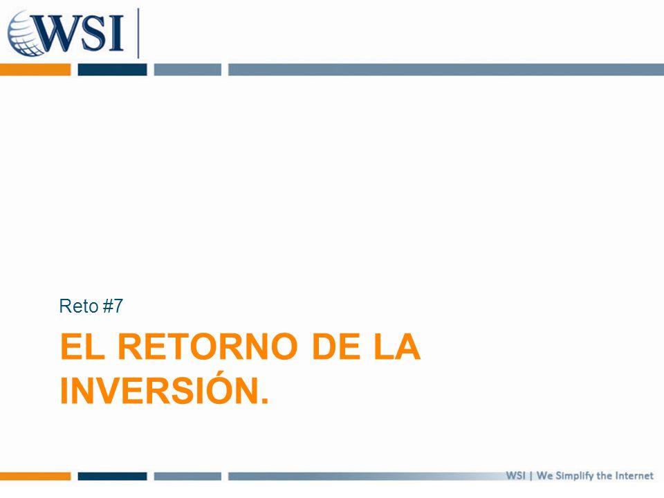 EL RETORNO DE LA INVERSIÓN. Reto #7
