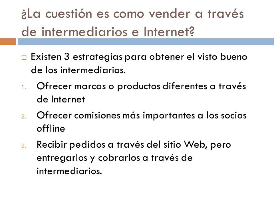 ¿La cuestión es como vender a través de intermediarios e Internet.