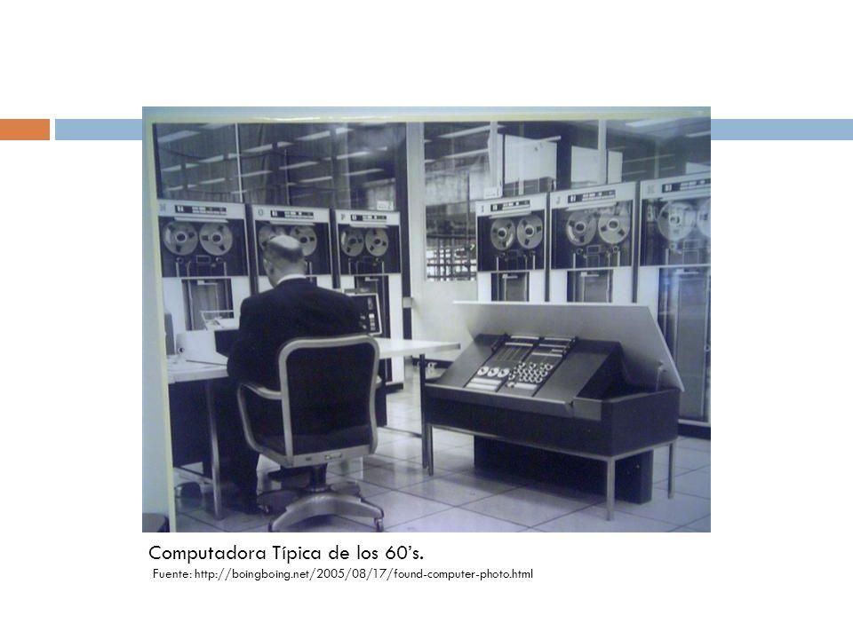 Computadora Típica de los 60s. Fuente: http://boingboing.net/2005/08/17/found-computer-photo.html