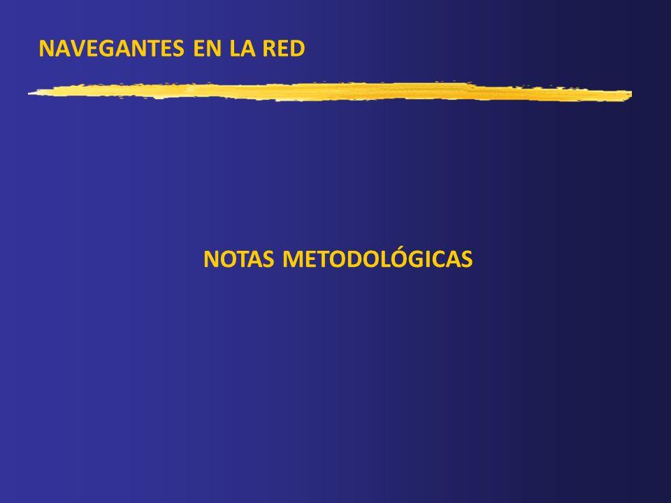 NAVEGANTES EN LA RED NOTAS METODOLÓGICAS