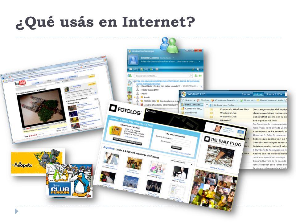 ¿Qué usás en Internet?