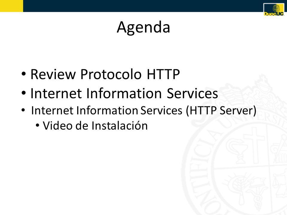 Protocolo HTTP (Review) SERVIDOR HTTP Paso 1: Cliente web solicita una pagina Paso 2: Webserver encuentra la pagina y la pasa al servidor de aplicaciones Paso 3: El servidor de aplicaciones la scanea para chequear instrucciones Paso 4: El servidor de aplicaciones envía la pregunta al driver de la base de datos Paso5: El driver ejecuta la pregunta en la base de datos Servidor de Aplicaciones RespuestaSolicitud Paso 8: El servidor de aplicaciones inserta la respuesta en la página y la envía al servidor WEB Paso 7: El driver pasa el resultado al servidor de aplicaciones Paso 6: El resultado es enviado al driver Paso 9: El webserver pasa la página terminada al cliente Cliente WEB (I.