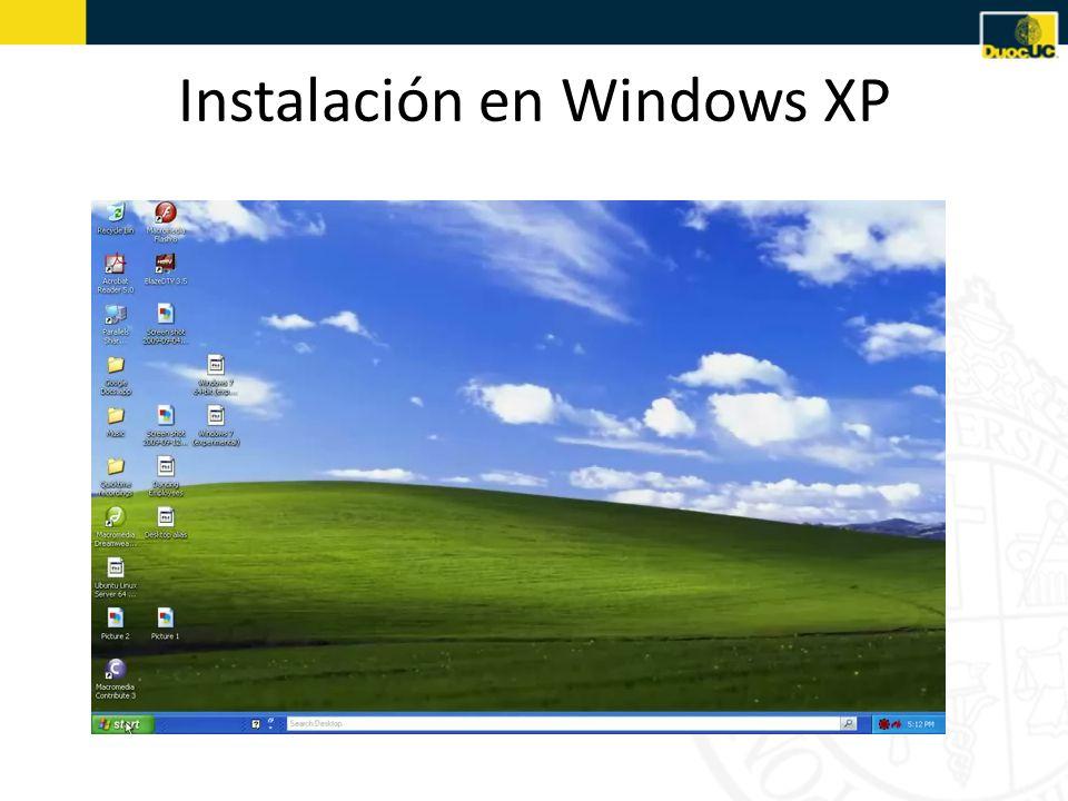 Instalación en Windows XP