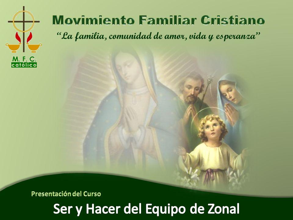 Ser y Hacer del Equipo Zonal La familia, comunidad de amor, vida y esperanza 62 Evaluación del Curso Cierre