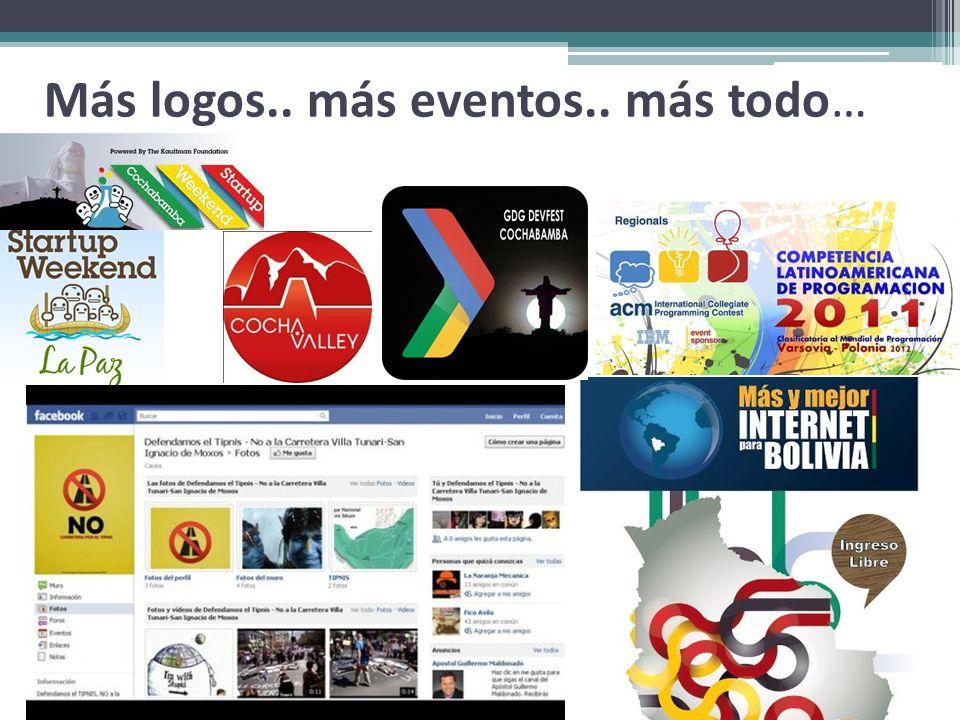 Más logos.. más eventos.. más todo…