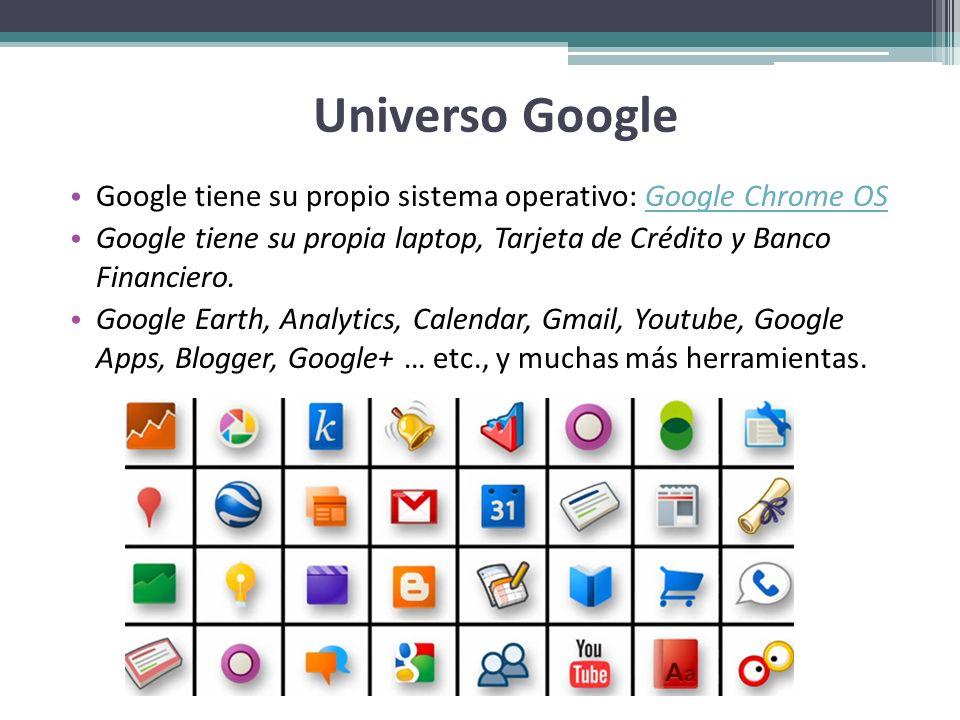Universo Google Google tiene su propio sistema operativo: Google Chrome OSGoogle Chrome OS Google tiene su propia laptop, Tarjeta de Crédito y Banco F