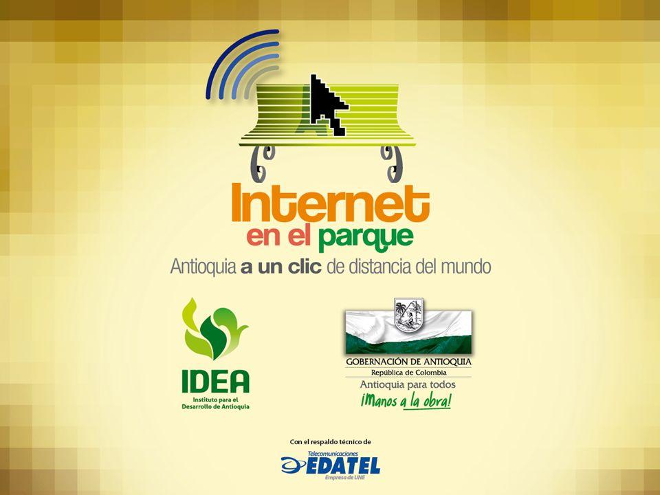 Internet en el Parque Convenio entre el IDEA y La Gobernación de Antioquia EDATEL, con el apoyo técnico de EDATEL Para el progreso de los municipios de Antioquia