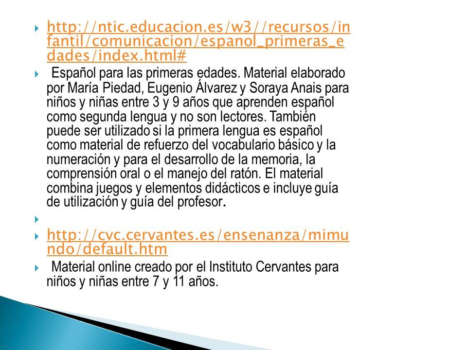 http://recursostic.educacion.es/primaria/enp ocaspalabras/web/ http://recursostic.educacion.es/primaria/enp ocaspalabras/web/ Es una aplicación didáctica cuyo objetivo es trabajar el área de Lengua en la etapa de Primaria.