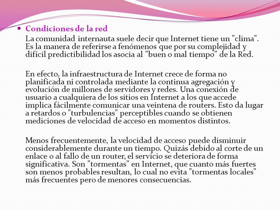 Dimensionamiento de los servidores de Internet Existen todavía muchos servidores de Internet que operan a velocidades tan bajas como 56 Kbs o 64 Kbs.