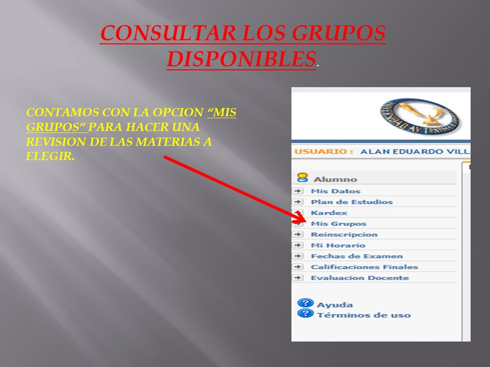 EN LAS OPCIONES DEL LADO IZQUIERDO, SELECCIONAMOS REINSCRIPCION.