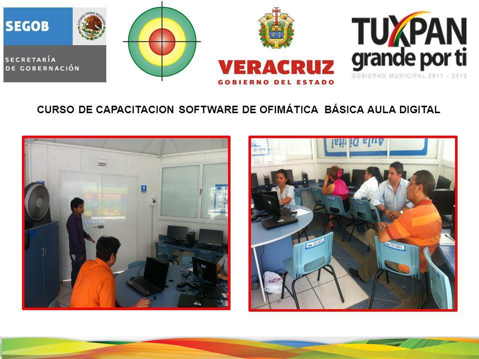 CURSO DE CAPACITACION SOFTWARE DE OFIMÁTICA BÁSICA AULA DIGITAL
