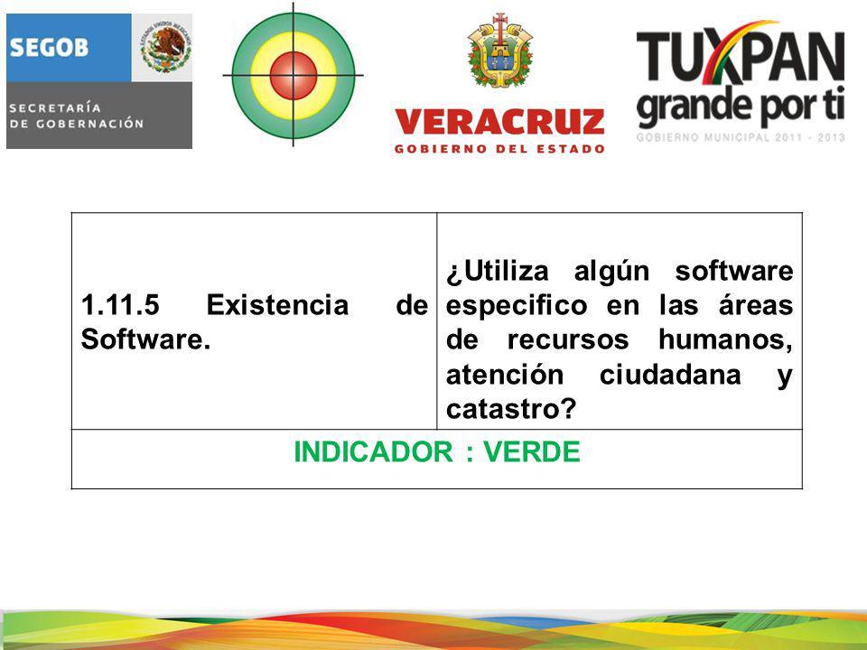 1.11.5 Existencia de Software.