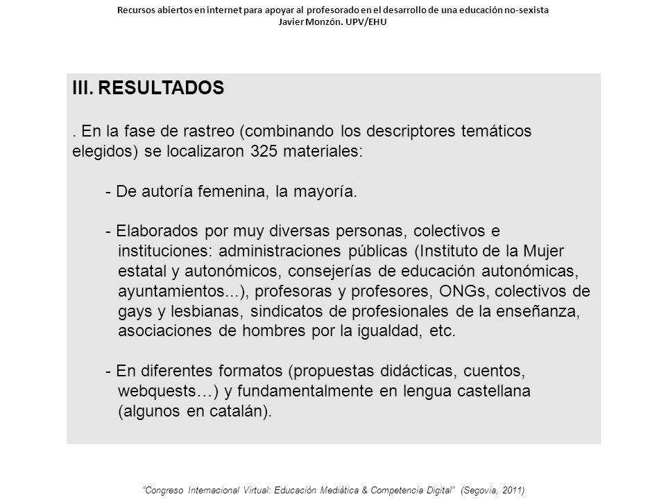 III. RESULTADOS.